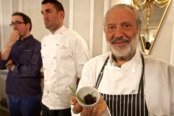 El chef de Las Pedroñeras, durante el último Salón Olipremium.