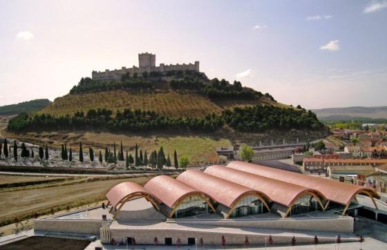 La imponente silueta del Castillo de Peñafiel preside la localidad. / AT-P
