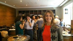 Raquel Ruiz, nueva responsble de comunicación, durante el encuentro. / BACOMANÍA
