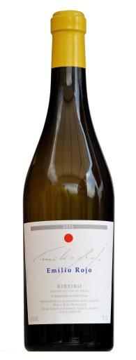 Botella de viño Ribeiro do Emilio Rojo, colleita 2015.